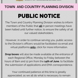 Town & Country Planning Division Current COVID-19 Arrangements