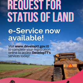 New DevelopTT e-Services Launched; Stamp Duty Exemption Correspondence & Status of Land Correspondence!