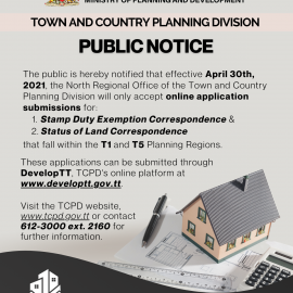 TCPD Public Notice on Stamp Duty Exemption Correspondence & Status of Land Correspondence