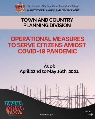 Town and Country Planning Division's Updated Covid-19 Protocols (as of April 22, 2021)