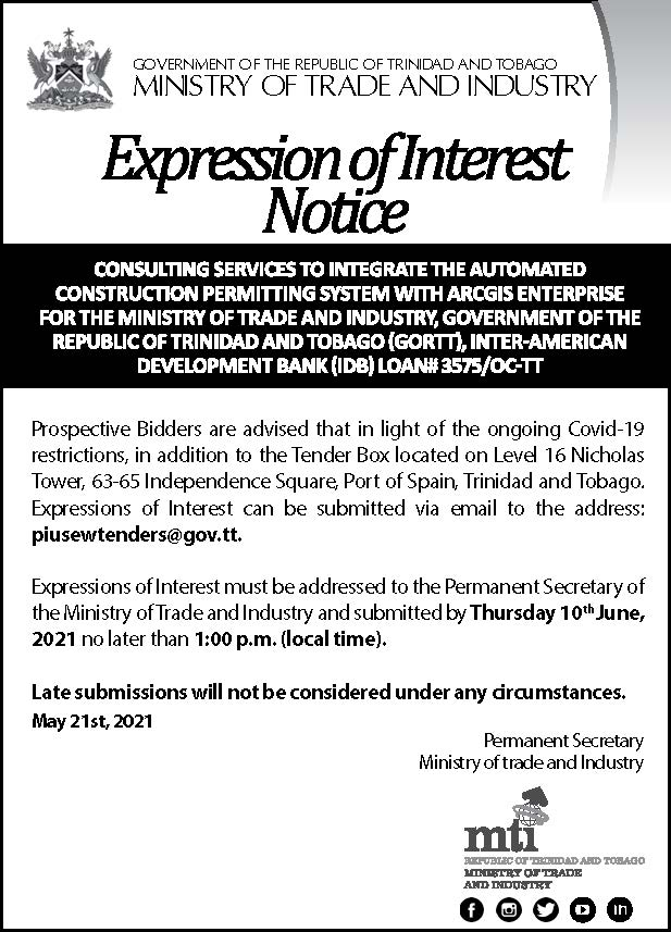 EXPRESSION OF INTEREST: NOTICE