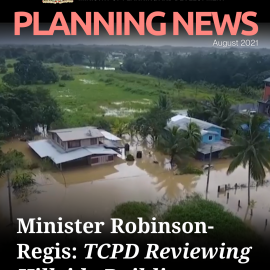 IN THE NEWS: Minister Robinson-Regis; Town and Country Reviewing Hillside Building (Trinidad Guardian)